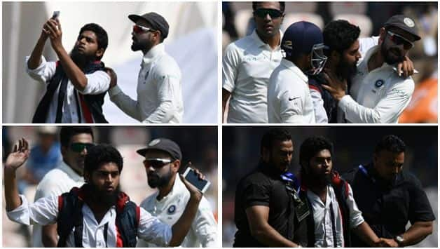 It was the second incident in the series after Kohli was surrounded by selfie-taking fans in the middle of the first Test in Rajkot last week.