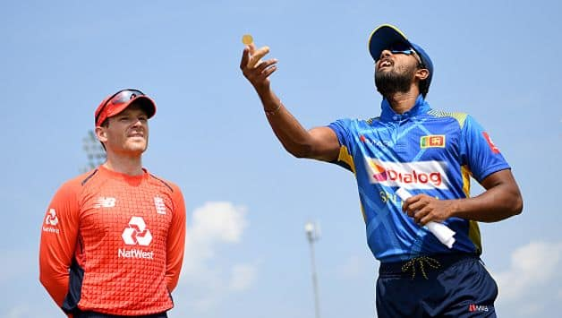 Sri Lanka's new captain Dinesh Chandimal won the toss and put England in to bat in the first of five one-day internationals in Dambulla on Wednesday.