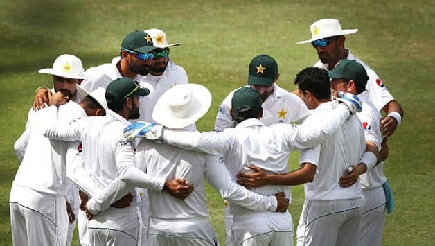 Pakistan declared their second innings at 181/6, setting Australia a target of 462 runs to win the first Test at the Dubai International stadium.