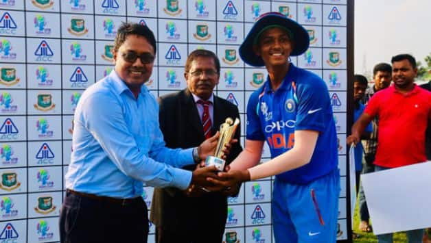 Yashasvi Jaiswal had scored 104 against Nepal U-19 earlier in the tournament. Photo: Twitter/Asian Cricket Council