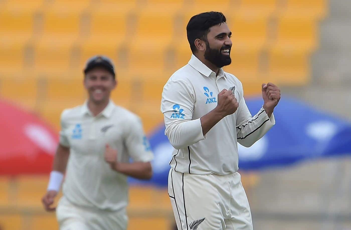 Ajaz Patel shines, New Zealand beat Pakistan by 4 runs In first test