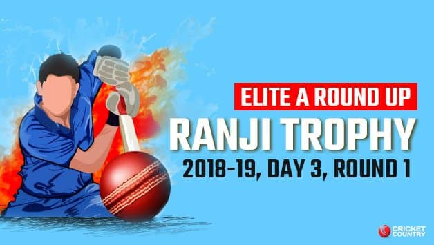 Ranji Trophy 2018-19, Elite Group A roundup: Fazal ton puts Vidarbha ahead, sizeable leads for Baroda and Mumbai