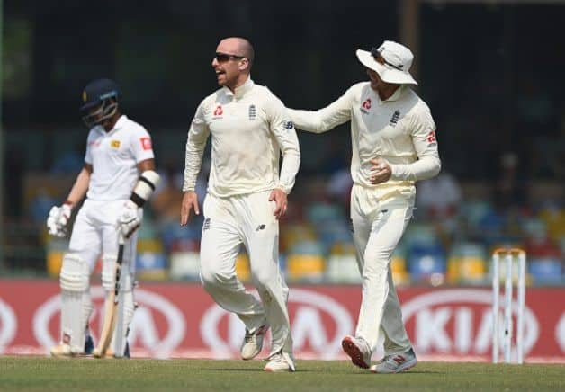 Jack Leach returned with 18 wickets, joint highest with team-mate Moeen Ali, in the tourists' 3-0 series sweep against Sri Lanka on Monday. @ Getty Images