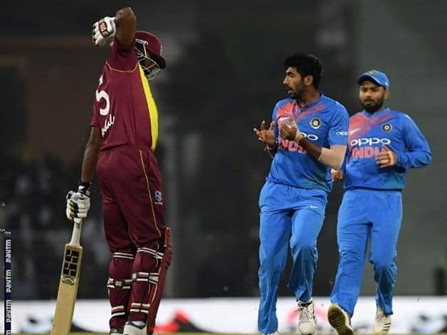 India set West Indies at massive 196-run target. During the run chase, a controversial incident took place in the 11th over. Photo: Screengrab