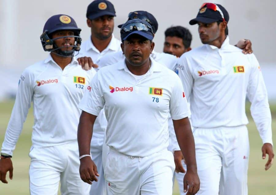 Rangana Herath is one wicket shy of 100 in Galle.