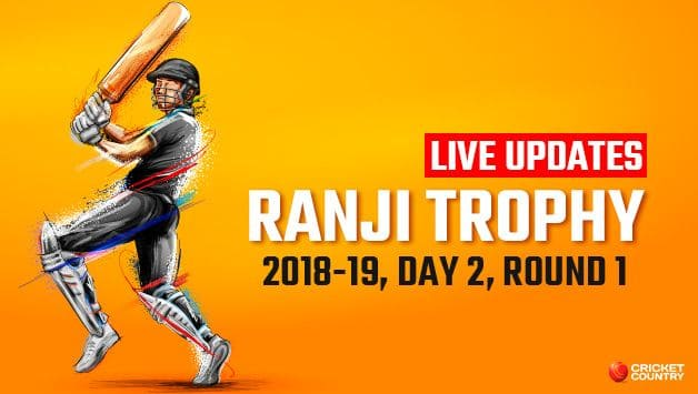 Ranji Trophy 2018-19, Day 2: Live cricket score and updates