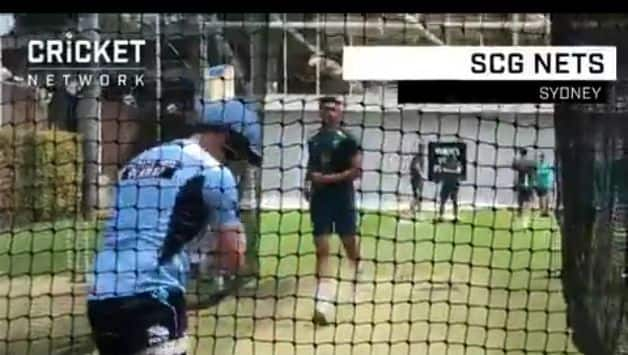 Watch: Steven Smith's net session against Australian fast bowlers at SCG