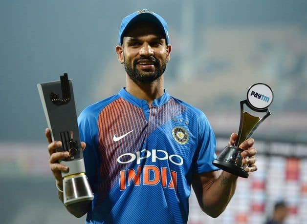 India opener Shikhar Dhawan won the Man of the Match award for his 62-ball 92 that helped India beat West Indies by six wickets in the third and final Twenty20 International. @ AFP