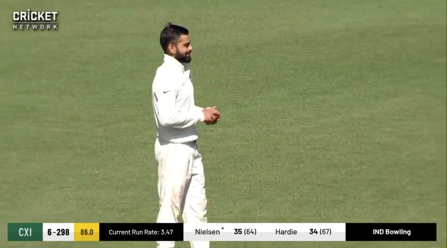 Watch: Virat Kohli swings ball at SCG; R Ashwin jokes 'he was dishing out lesson for bowlers'