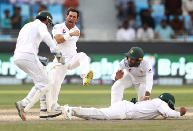 Yasir Shah's figures are the second-best match figures in all Tests for Pakistan, behind former captain and current prime minister Imran Khan's 14-116 against Sri Lanka in Lahore in 1982. @ Getty Images