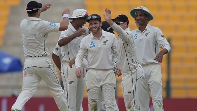 Left-arm pacer Trent Boult helped New Zealand foil Pakistan's advantage with four wickets as the first Test was evenly poised after day two in Abu Dhabi on Saturday