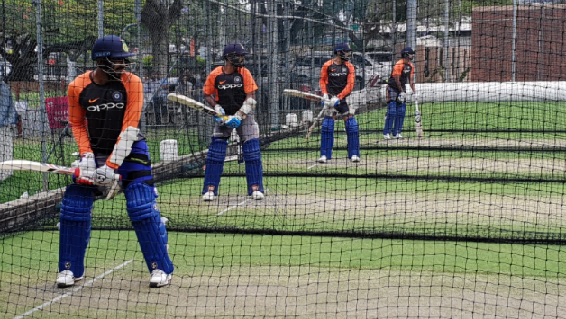 VIDEO: Jasprit Bumrah bats at net practise; Adam Gilchrist visits Team India