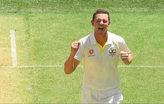 Hazlewood strikes first ball