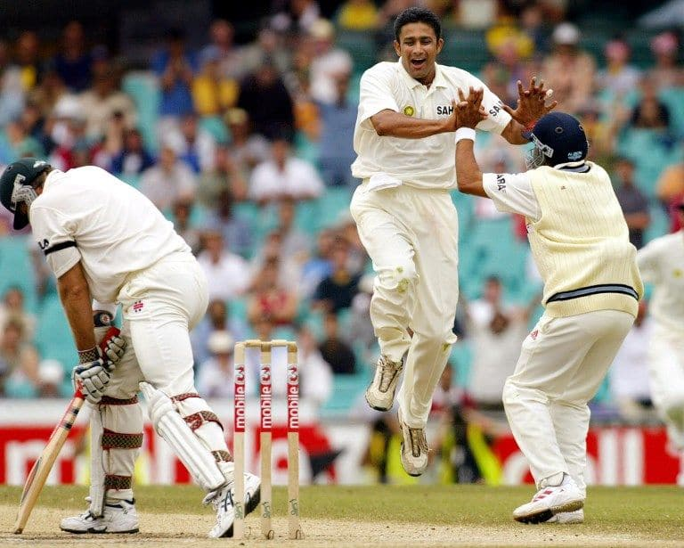 Anil Kumble gets Matthew Hayden to snap a strong opening stand