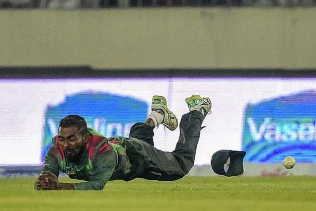 Bangladesh dropped two catches – both of Keemo Paul – who went on to conjure 71 runs for the seventh wicket with Shai Hope. @ AFP