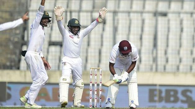 Bangladesh avenged their away first Test defeat against the Windies this after they were bowled out for 43 in the first Test, the lowest Test total since 1974. @ AFP