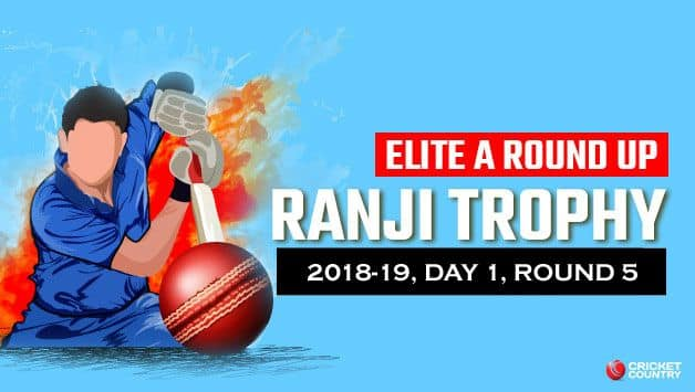 Ranji Trophy 2018-19, Elite Group A, Round 5: Suchith takes five, Shah shepherds Saurashtra to respectable total