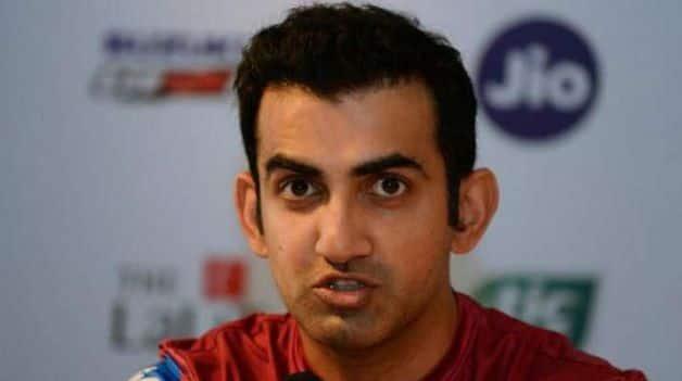Former India opener Gautam Gambhir. @ AFP