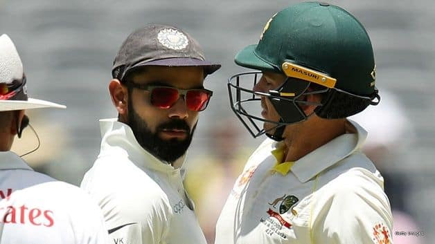 The stump microphones have captured some interesting conversations during the ongoing Test series, the most notable among them being the fiery exchange between visiting captain Virat Kohli and his counterpart Tim Paine during the second Test in Perth. @ Twitter