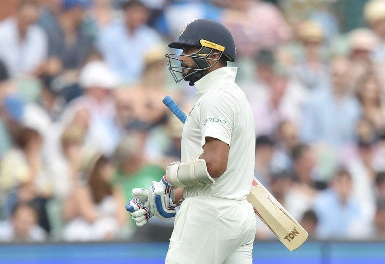 Murali Vijay averages 12.25 this series