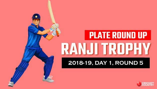Meghalaya's two outstation player Puneet Bisht and Yogesh Nagar kept the marauding table toppers in Plate Group, Uttarakhand, at bay with a stand 194 runs for the fourth wicket