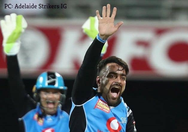 While Rashid Khan picked 3/19 in his four overs, Billy Stanlake and Matthew Short claimed two wickets each. @ Adelaide Strikers