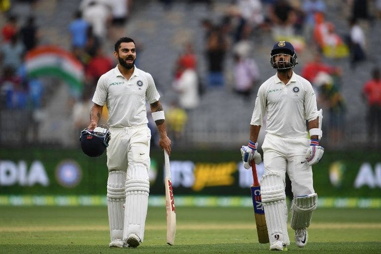 Cheteshwar Pujara and Ajinkya Rahane tango with Virat Kohli, to India's gain