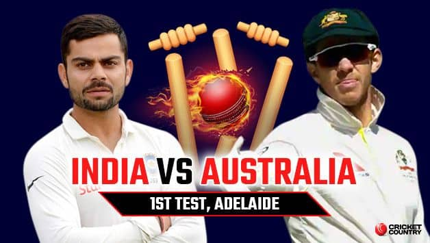 India vs Australia 2018, 1st Test, Day 1: LIVE cricket score of India vs Australia at Adelaide Oval. News, latest updates, live streaming, coverage and highlights.