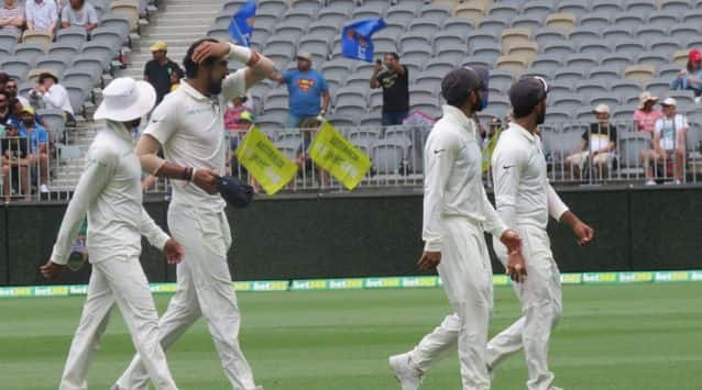 India had cleaned up the Australian tail with Ishant Sharma (4-41) on a hat-trick in the second innings.