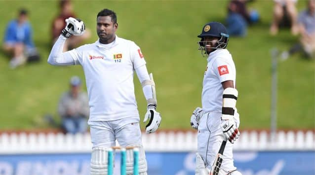 Sri Lanka battled to a rain-affected draw in the first Test against New Zealand on Wednesday after the Black Caps were unable to break an epic stand by Kusal Mendis and Angelo Mathews.