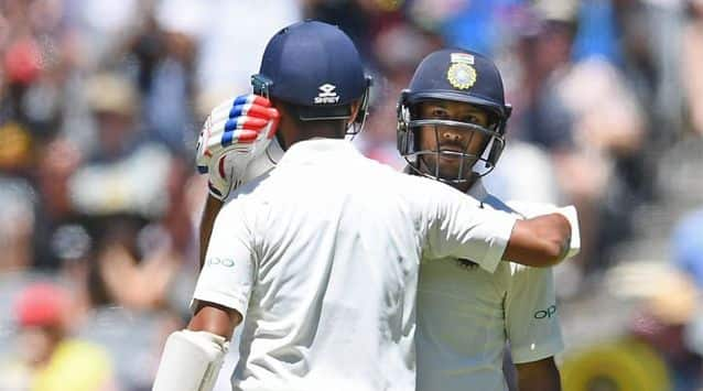 Mayank Agarwal held his nerve on debut to give India a solid start to the decisive third Test against Australia Wednesday, but a brutal Pat Cummins bouncer accounted for Hanuma Vihari.