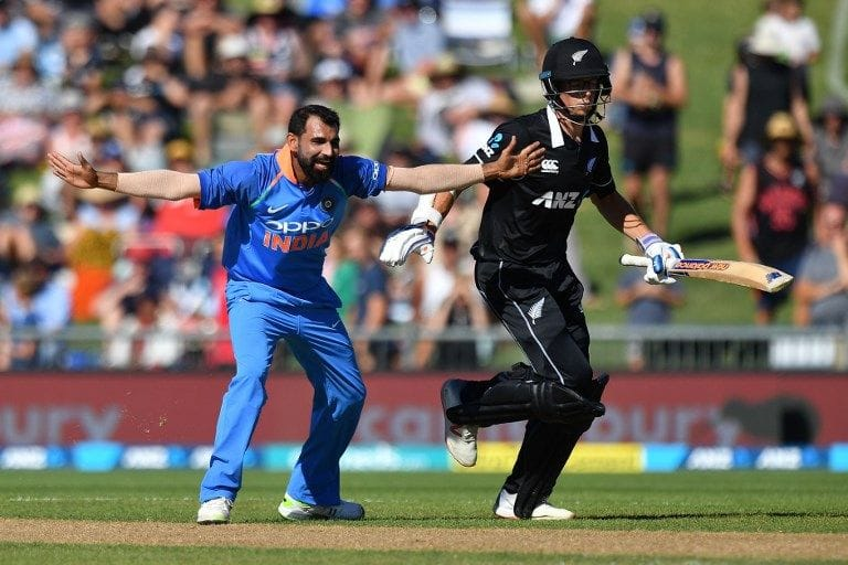 1st ODI: New Zealand fold for 157 as Kuldeep, Shami excel