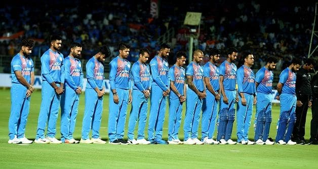 Indian players wear black armbands to mourn martyrs in Pulwama attack