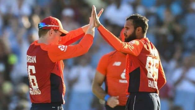 West Indies vs England: skipper Eoin Morgan hails Adil Rashid bowling