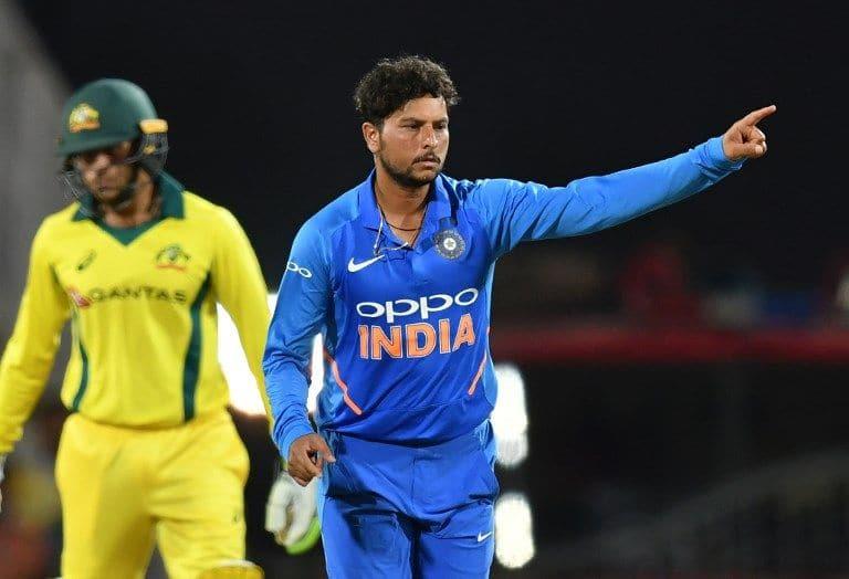 Kuldeep Yadav claimed three wickets in India's narrow win