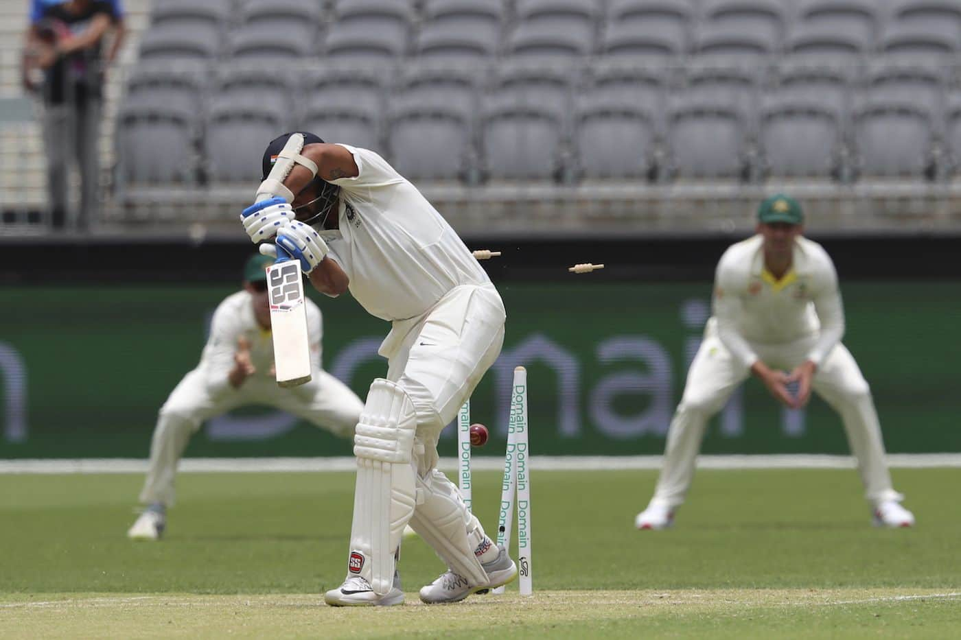 Mitchell Starc had Vijay's number three times in four innings in December