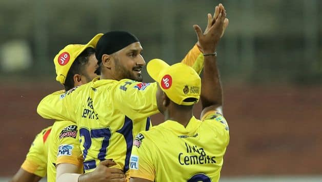 After being put in to the bat, Bangalore succumbed to the league's jointest-sixth lowest total and their joint-lowest as Chennai's Harbhajan Singh and Imran Tahir shared six wickets between them giving away just 29 runs in eight overs. Photo: BCCI
