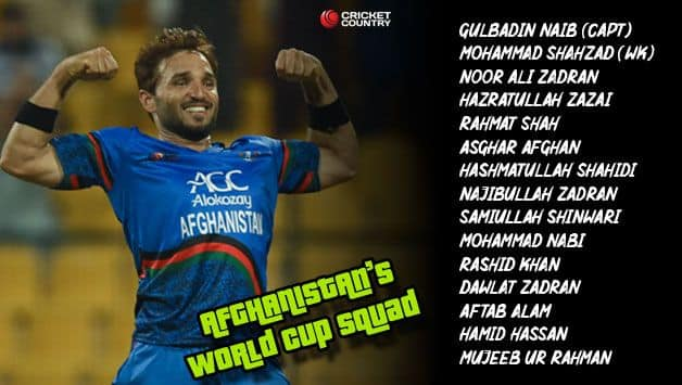 Afghanistan team list 2019 World Cup