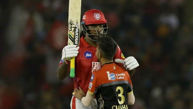 IPL 2019 : Chris Gayle's 99 Powers Punjab To 173/4 In Mohali against Bangalore