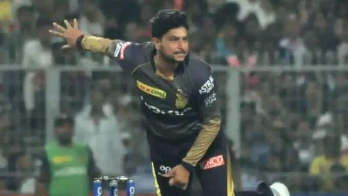 Kuldeep Yadav equals Imran Tahir's record of most runs conceded by spinners in an IPL match