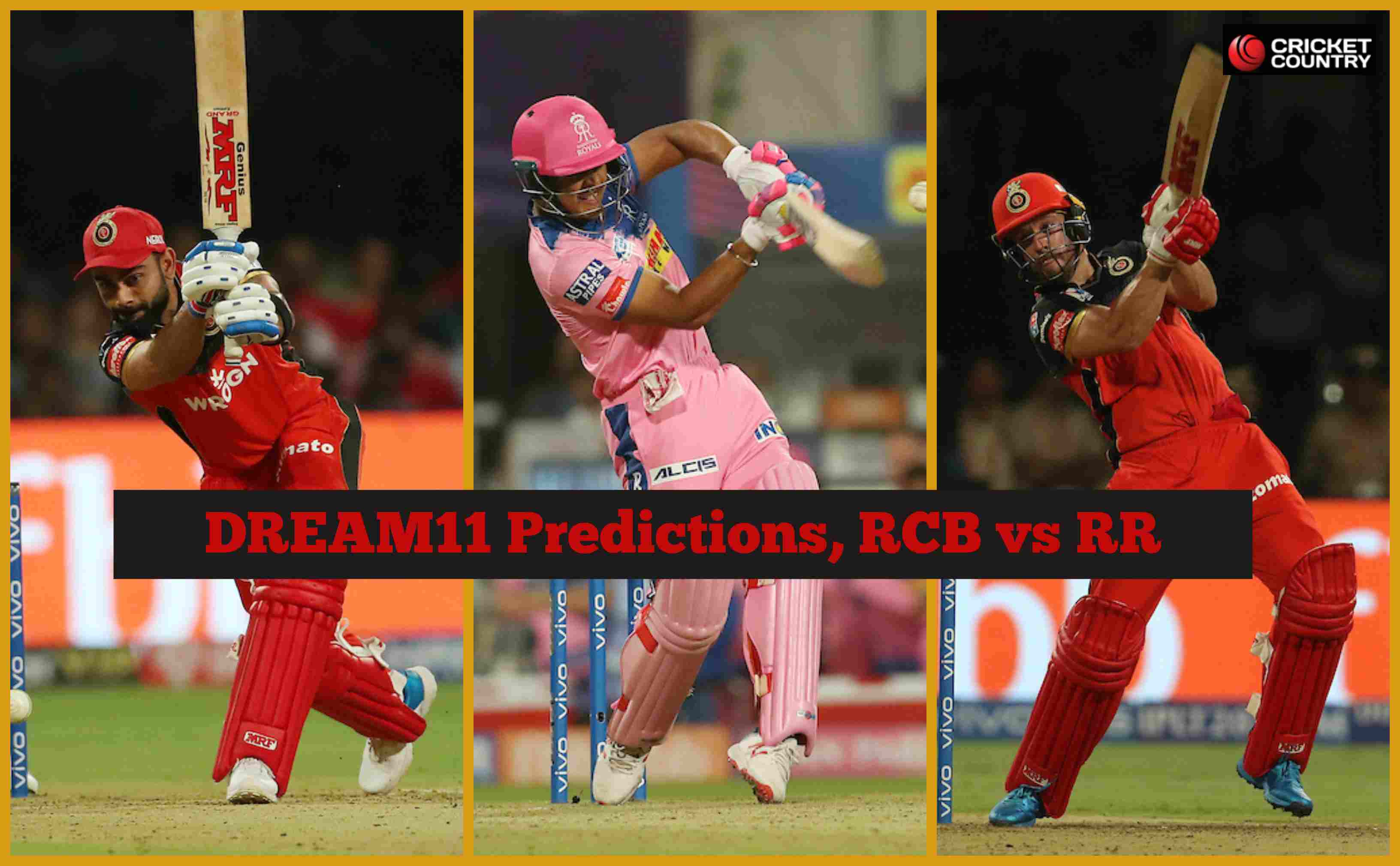 Dream11 Prediction: RCB vs RR Team Best Players to Pick for Today's IPL T20 Match between Royal Challengers and Royals at 8PM