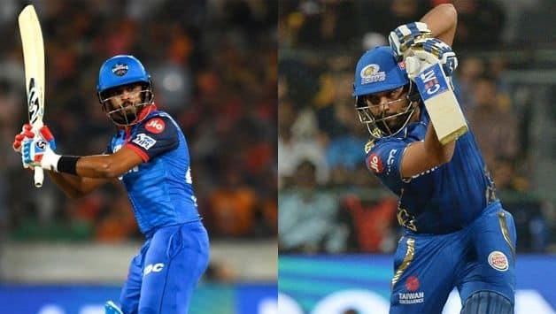 Shreyas Iyer and Rohit Sharma IPL 2019 Match 34
