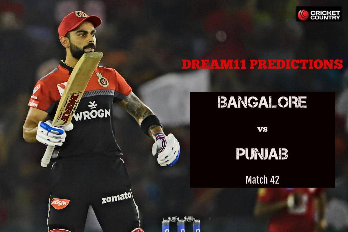 Dream11 Prediction: RCB vs KXIP Team Best Players to Pick for Today's IPL T20 Match between RCB and KXIP at 8PM
