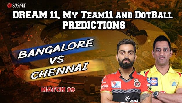 Today's Best Pick 11 for Dream11, My Team11 and Dotball – Here are the best pick for Today's match between RCB and CSK at M Chinnaswamy Stadium 8pm