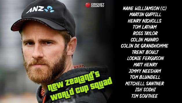 New Zealand World Cup 2019 squad