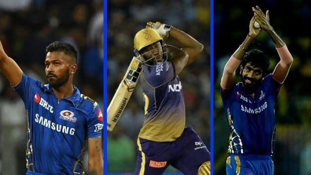 Hardik Pandya, Andre Russell, Jasprit Bumrah IPL 2019