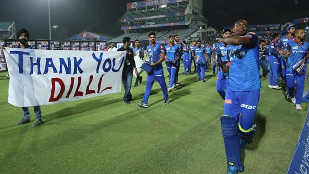 IPL 2019: Delhi Capitals' players say thank to fans after season's last match in Feroz Shah Kotla