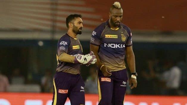 Dinesh Karthik, Andre Russell, KXIP vs KKR, Indian Premier League, IPL 2019