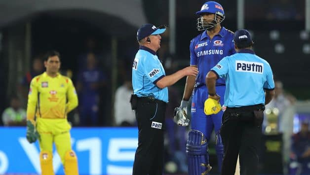 IPL Final: kieron Pollard reprimanded for protesting against wide ball