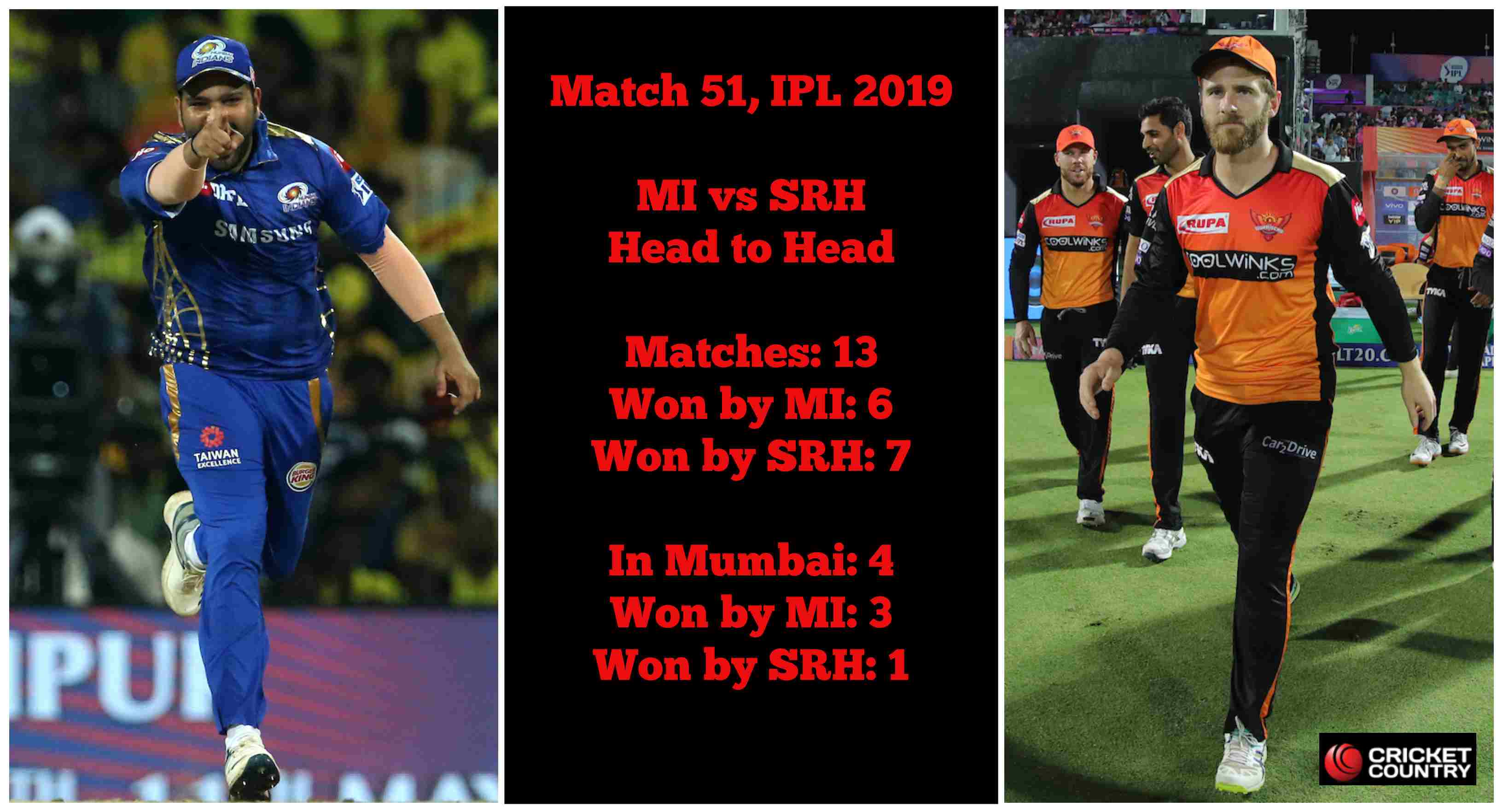 IPL 2019 MI vs SRH: Who will win today's IPL match – predictions, playing 11s and head to-head
